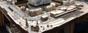 今年の展示に向けてリフレッシュ整備の始まったトレッサ横浜向けクリスマスレイアウト(HO)。